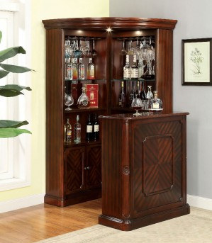 FOA Furniture Of America Voltaire 2pc Bar Unit & Curio Set Available Online in Dallas Fort Worth Texas