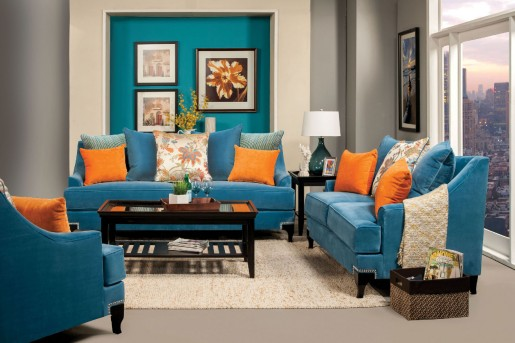 FOA Furniture Of America Vincenzo 2pc Sofa & Loveseat Set Available Online in Dallas Fort Worth Texas