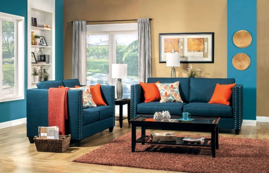 FOA Furniture Of America Palermo 2pc Sofa & Loveseat Set Available Online in Dallas Fort Worth Texas