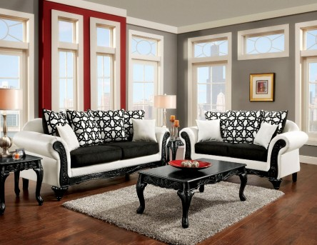 FOA Furniture Of America Dolphy 2pc Sofa & Loveseat Set Available Online in Dallas Fort Worth Texas