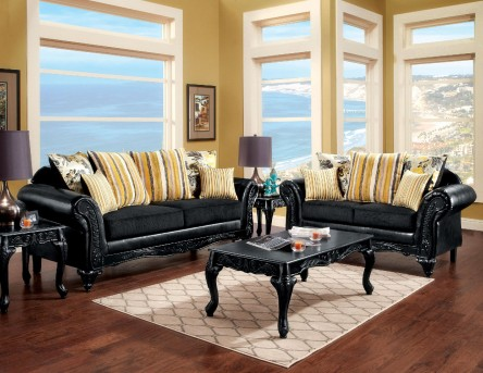 FOA Furniture Of America Thelon 2pc Sofa & Loveseat Set Available Online in Dallas Fort Worth Texas