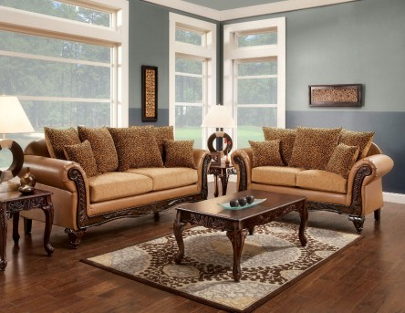 FOA Furniture Of America Tatum 2pc Sofa & Loveseat Set Available Online in Dallas Fort Worth Texas