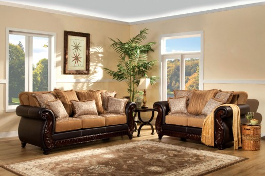FOA Furniture Of America Frankford 2pc Sofa & Loveseat Set Available Online in Dallas Fort Worth Texas