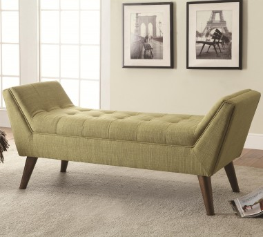 Coaster Flared Arm Green Accent Bench Available Online in Dallas Fort Worth Texas