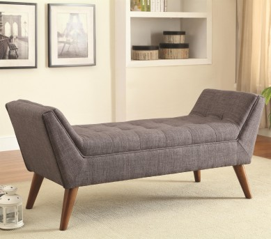 Coaster Flared Arm Grey Accent Bench Available Online in Dallas Fort Worth Texas