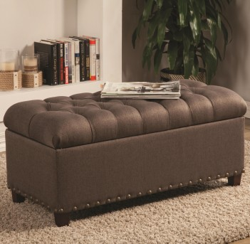 Coaster Jolia Mocha Accent Storage Bench Available Online in Dallas Fort Worth Texas