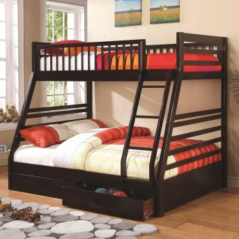Coaster Cooper Cappuccino Twin/Full Bunk Bed Available Online in Dallas Fort Worth Texas