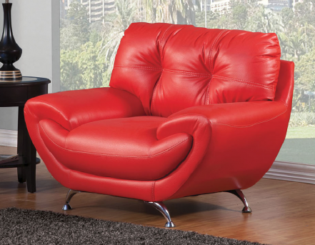 FOA Furniture Of America Volos Red Chair Available Online in Dallas Fort Worth Texas