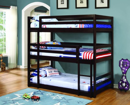 Coaster The Triple Twin Bunk Bed Available Online in Dallas Fort Worth Texas