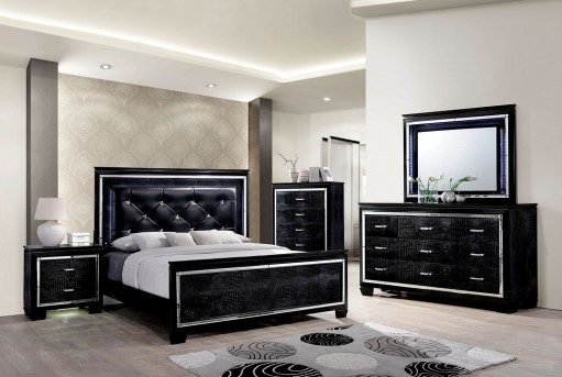 FOA Furniture Of America Bellanova Black King 5pc Bedroom Group Available Online in Dallas Fort Worth Texas