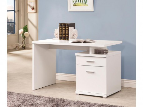 Coaster Tarrick White Desk with Cabinet Available Online in Dallas Fort Worth Texas