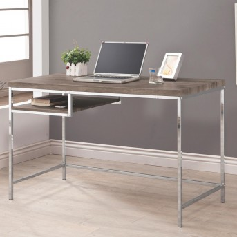 Coaster Enedina Weathered Gray Computer Desk With Shelf Available Online in Dallas Fort Worth Texas