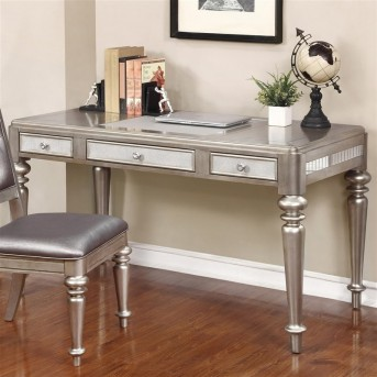 Coaster Desks Silver Writing Desk Available Online in Dallas Fort Worth Texas