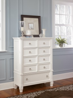 Ashley Prentice White Chest Available Online in Dallas Fort Worth Texas