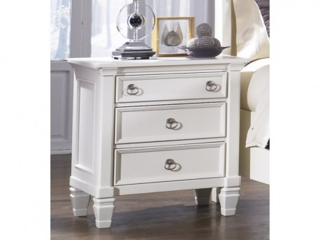 Ashley Prentice White Night Stand Available Online in Dallas Fort Worth Texas