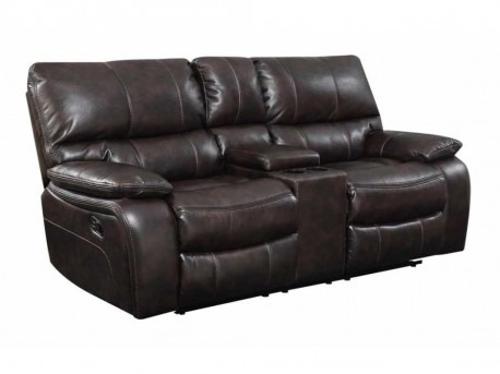 Coaster Willemse Chocolate Motion Loveseat Available Online in Dallas Fort Worth Texas
