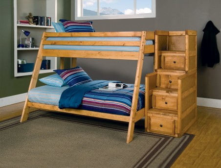 Coaster Wrangle Hill Twin/Full Staircase Bunk Bed Available Online in Dallas Fort Worth Texas
