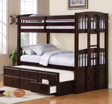 Coaster Logan Twin/Twin/Twin Trundle Storage Bunk Bed Available Online in Dallas Fort Worth Texas