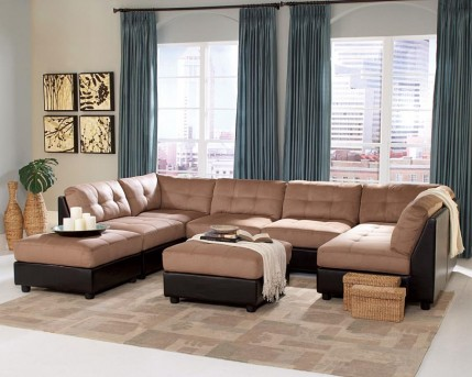 Claude 8pc Modular Sectional With Center Ottoman Available Online in Dallas Fort Worth Texas