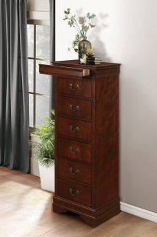 Homelegance Mayville Brown Cherry Lingerie Chest Available Online in Dallas Fort Worth Texas