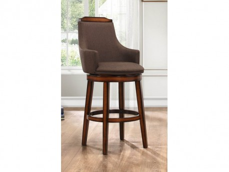 Homelegance Bayshore Chocolate/Linen Swivel Counter Height Chair Available Online in Dallas Fort Worth Texas