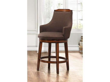 Homelegance Bayshore Chocolate/Linen Swivel Pub Height Chair Available Online in Dallas Fort Worth Texas