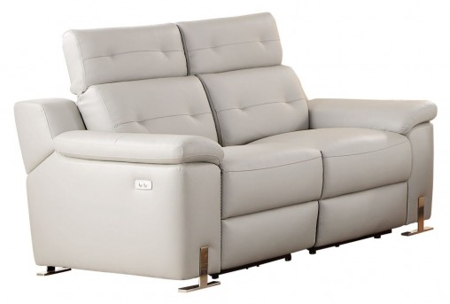 Homelegance Vortex Light Grey Power Double Reclining Love Seat Available Online in Dallas Fort Worth Texas
