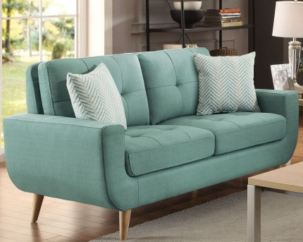 Homelegance Deryn Teal Loveseat Available Online in Dallas Fort Worth Texas