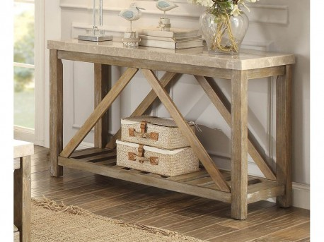 Homelegance Ridley Weathered Wood Sofa Table Available Online in Dallas Fort Worth Texas