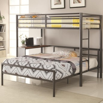 Coaster Ernest Twin/Twin Bunk Bed W/ Desk Shelf Available Online in Dallas Fort Worth Texas