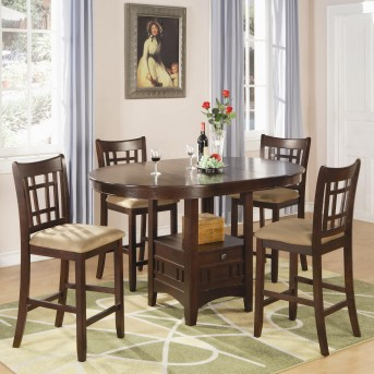 Coaster Lavon Chestnut 5pc Counter Height Dining Set Available Online in Dallas Fort Worth Texas