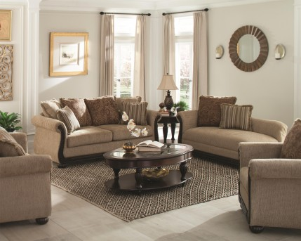 Coaster Beasley Sofa & Loveseat Set Available Online in Dallas Fort Worth Texas