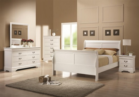 Coaster Louis Philippe White Queen 5pc Bedroom Group Available Online in Dallas Fort Worth Texas