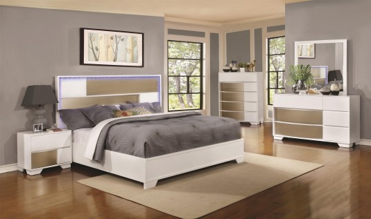 Coaster Havering Queen 5pc Platform Bedroom Group Available Online in Dallas Fort Worth Texas
