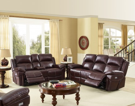 New Classic Warner Power Recline Sofa & Loveseat Set Available Online in Dallas Fort Worth Texas