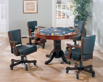 Coaster Mitchell 5pc Game Table Dining Set Available Online in Dallas Fort Worth Texas