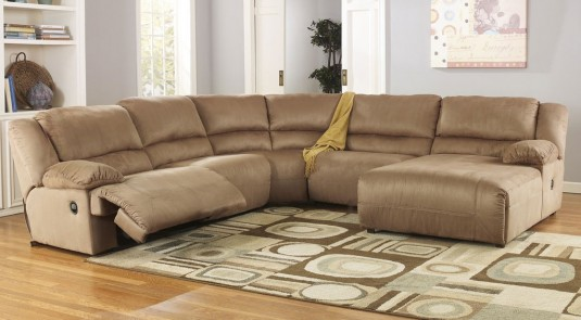Ashley Hogan 5pc Right Arm Facing Chaise Sectional Available Online in Dallas Fort Worth Texas