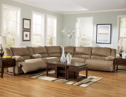 Ashley Hogan Mocha Sectional Available Online in Dallas Fort Worth Texas