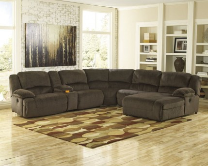 Ashley Toletta 6pc Right Arm Facing Chaise Sectional Available Online in Dallas Fort Worth Texas