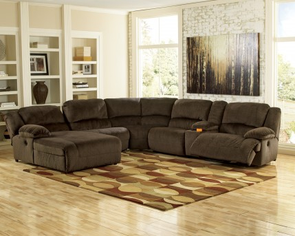 Ashley Toletta 6pc Power Left Arm Facing Chaise Sectional Available Online in Dallas Fort Worth Texas