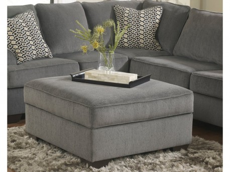 Ashley Loric Smoke Ottoman With Storage Available Online in Dallas Fort Worth Texas