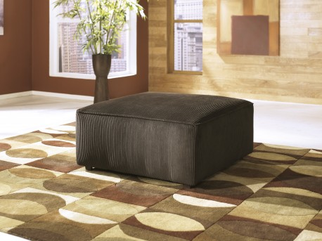 Ashley Vista Chocolate Oversized Accent Ottoman Available Online in Dallas Fort Worth Texas