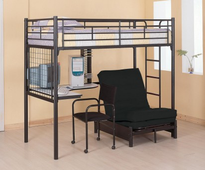 Coaster Twin Futon Workstation Loft Bed Available Online in Dallas Fort Worth Texas