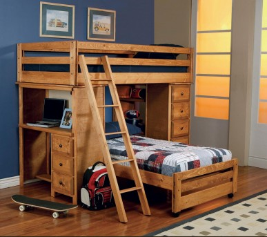 Coaster Wrangle Hill Twin/Twin Workstation Bunk Bed Available Online in Dallas Fort Worth Texas