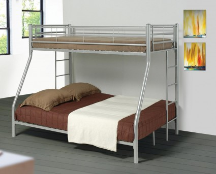 Coaster Denley Silver Twin/Full Bunk Bed Available Online in Dallas Fort Worth Texas