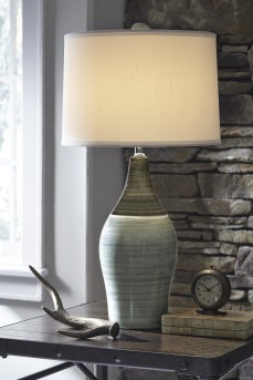 Ashley Niobe Multi Gray Ceramic Table Lamp Set of 2 Available Online in Dallas Fort Worth Texas
