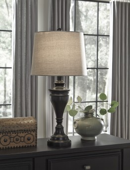 Ashley Darlita Bronze Metal Table Lamp Set of 2 Available Online in Dallas Fort Worth Texas