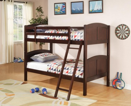 Coaster Parker Panel Twin/Twin Bunk Bed Available Online in Dallas Fort Worth Texas