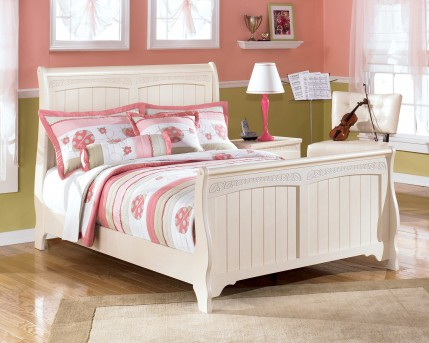 Ashley Cottage Retreat Full Sleigh Bed Available Online in Dallas Fort Worth Texas