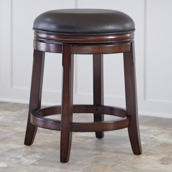 Ashley Porter Rustic Brown Swivel Barstool Available Online in Dallas Fort Worth Texas